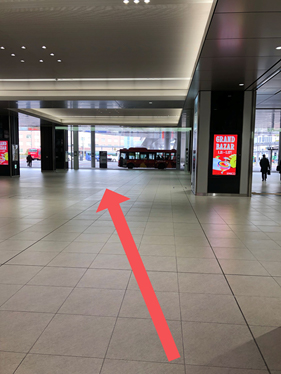 How to get to the taxi stand in Hiroshima Station